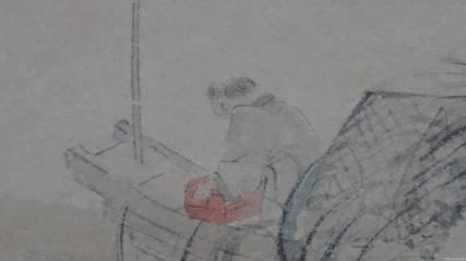 古风女子手绘弹琴